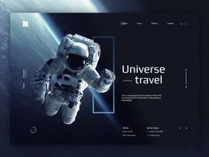 Universe Travel designed by Alina. Connect with them on Dribbble; the global community for designers and creative professionals. Web Design Trends, Best Web Design, Page Design, Diy Design, Website Design Layout, Layout Design, Website Design Inspiration, Graphic Design Inspiration, Branding