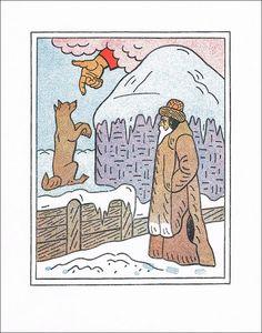 Josef Lada - Ruka z nebes (zinkografie) The Past, Comics, Retro, Illustration, Poster, Illustrations, Cartoons, Retro Illustration, Comic