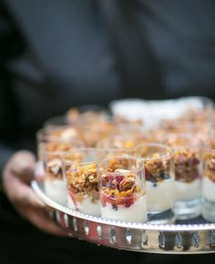 Passable Mini Yogurt Parfaits | 7 Ideas For A Morning-After Wedding Brunch | https://www.theknot.com/content/8-easy-ideas-for-and-amazing-morning-after-wedding-brunch