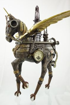"""Cavalique"" found object assemblage by Assemblique™"