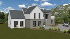apartments Mod Irish House Plans Story Type Mod Is A Stylish Sqft Bedroom Storey And Half Design Design irish house plans 2 storey Irish House Plans 2 Story. House Plans 2 Storey, Two Storey House, Hut House, House Roof, Modern Farmhouse Plans, Modern House Plans, Ireland Homes, Exterior Remodel, House Extensions