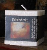 Palm wax candle