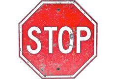 Vintage Stop Sign.