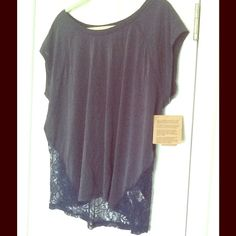 NWT Rachel Roy Meet Me in Montauk Indigo Lace Tee Super comfortable yet flirty Rachel Roy indigo and lace tee perfect for a casual summer day. Rachel Roy Tops