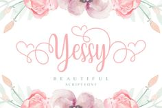 Yessy is a beautiful script font. It's full of glyphs andfeminine swashes which makes it perfect for any design that... Typographic Logo, Typography Fonts, Calligraphy Fonts, Calligraphy Alphabet, Modern Calligraphy, Cool Fonts, New Fonts, Creative Fonts, Sans Serif