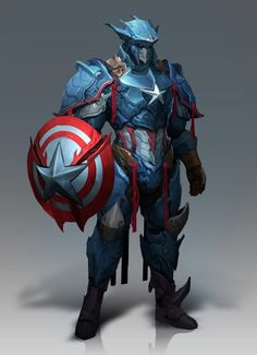Galaxy Fantasy: Thor, Capitán América y Pantera Negra rediseñados de una manera diferente