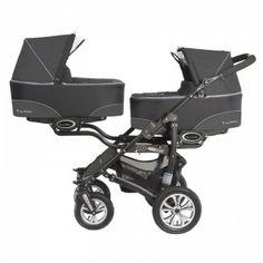 Duo / tweeling kinderwagen Babyactive Twinni zwart