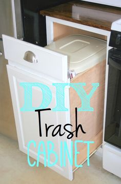 Build A Pull Out Trash Bin From Existing Cabinets.
