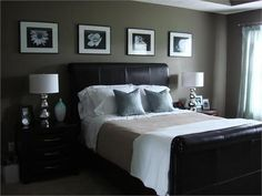 Black Bedroom Ideas with #Leatherbed    #balckbedroom #bedroom #black #furniture #uk #beds #london