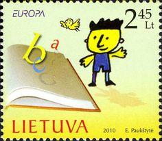 Stamp: Europa (Lithuania) (Europa (C.E.P.T.) 2010 - Children's Books) Mi:LT 1039,AFA:LT 1038