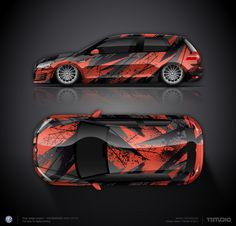 Wrap design concept for full wrap Car Top View, Vinyl Wrap Car, Car Tuning, Car Painting, Car Wrap, Car Stickers, Drag Racing, Car Show, Art Cars