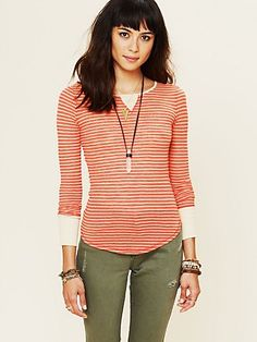 Burnout Stripe Longsleeve Layer. Love this... minus the obvious nipples lol
