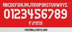 Liverpool 2014-2015 UCL Font TTF | Football Fonts