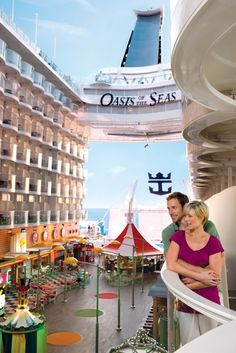 The boardwalk balconies let you view of all the action! #cruising #travel