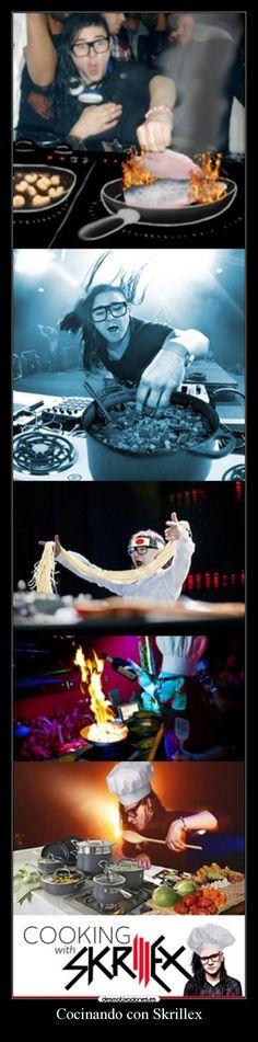 carteles borregoway presents cocinando con skrillex clandesplazado walt princi pls house musica electro amor desmotivaciones