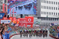 Gallery: 2014 Vuelta a Espana, stage 17 - It was a disorganized sprint with the field spreading out across the entire road, coming into the finish in Coruna. Photo: Tim De Waele | TDWsport.com