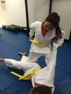 Learning how to to a Takedown.