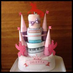 fantasy castle diaper cake