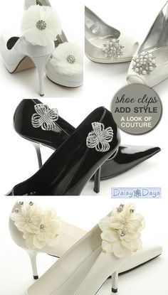 Friday Fashion of the Day : Fun and Stylish Shoe Clips - Brenda's Wedding Blog - unique wedding blogs for stylish weddings and inspiring visuals  ♥ ♥ ♥ Follow [YumYum Weddings @ Pinterest] for 2013's best wedding pinspiration now.