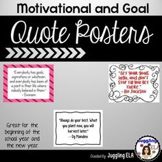 I love hanging quotes all over my classroom. I have compiled 32 quotes that are motivational and about setting goals. I think that quotes are inspirational for secondary students. They're perfect if you're encouraging students to have a growth mindset. School Resources, Teacher Resources, Classroom Resources, Classroom Decor, Top Art Schools, Hanging Quotes, Secondary Teacher, Middle School English, Goal Quotes