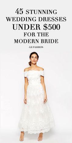Wedding dresses under $500 #bride #bridal #offtheshoulder