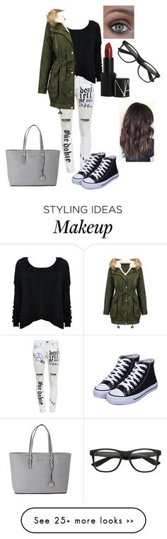 """""""Amandine Rodriguez #LucasHernandez"""" by amelou26 on Polyvore featuring Filles à papa, Michael Kors and NARS Cosmetics"""