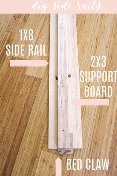 Diy Twin Bed Frame, Bed Frame Parts, Making A Bed Frame, Diy Frame, Antique Headboard, Vintage Headboards, Antique Beds, Headboard And Footboard, Antique Clocks