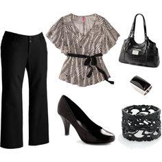Black and White #plus size dressy