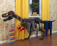 Peace out baseboard heaters.I want a Thermosaurus! Designed by Art. Lebedev Studio, the Thermosaurus is a heat exchanger that installs like a regular central-heating radiator. Central Heating Radiators, Heat Exchanger, Yanko Design, Up House, Blog Deco, Deco Design, Foyers, T Rex, Cool Gadgets