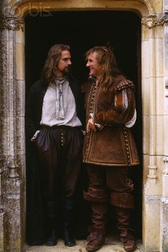 """On The Set of """"The Man in the Iron Mask"""" - Gerard Depardieu & Jeremy Irons"""