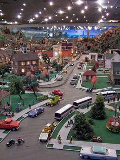 hand made model village