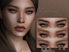 SAYA ~Eyebrows 7 colour options Female Custom Thumbnail Teen to elder HQ mod Compatible TOU: Unless given permission DO NOT! - - Reupload - Claim as your own - Recolour - Include in your mods. Sims Mods, Sims 4 Body Mods, Sims 4 Game Mods, Sims 4 Mods Clothes, Sims 4 Clothing, Sims 4 Cc Skin, Sims Cc, Tumblr Sims 4, Eyebrows