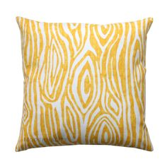 Pillow Decor Premier Prints Yellow Willow by Modernality2 on Etsy, $14.95