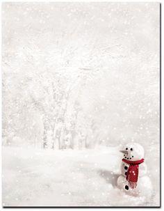 Snowman In Red Scarf Letterhead