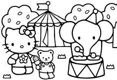 Coloriage Hello Kitty Cirque.10 Images Succulentes De Cirque Color Coloring Pages Et Printable