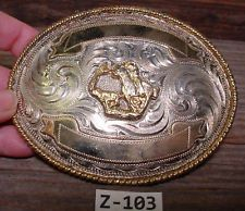 Rare ROCKMOUNT Denver Colo Calf Roping Cowboy Belt Buckle MAKE AN OFFER $145.00 or Best Offer Free shipping Item image