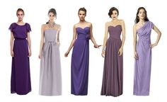 Long purple bridesmaid gowns....Found on Weddingbee.com Share your inspiration today!