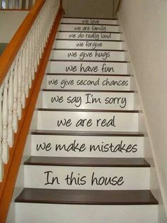 Staircase idea - change words...