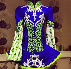 Celtic Star Design Irish Dance Solo Dress Costume-- that blue!