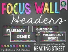 Focus Wall Headers (Reading Street): Chalk Brights