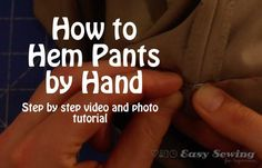 How to Hem Pants by Hand