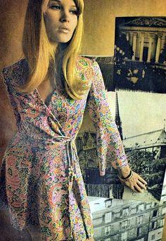 1970s Wrap Dress
