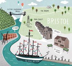 Bristol map - Jamie magazine