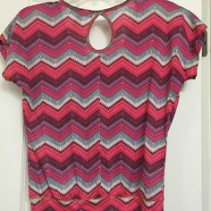 Small Chevron summer top Worn a few times in good condition! Summer chevron top in a small. Weavers Tops Blouses