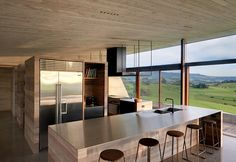 The 'Farm' m²). Designed by Fergus Scott, Caryn McCarthy, & Richard Smith Located in New South Wales, Australia. Photo by Michael Nicholson. Architecture Awards, Residential Architecture, Interior Architecture, Interior Design, Concrete Floors, Concrete Kitchen, Kitchen Design, Kitchen Interior, Home And Family