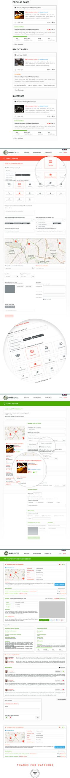 Euro Voices - Branding Ui / Ux on Web Design Served