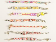 friendship bracelets by Frieda & Nellie Bracelet Knots, Beaded Bracelets, Bangles, Beaded Jewelry, Armband, Diy Jewelry Inspiration, Jewelry Boards, Friendship Bracelets, Bling