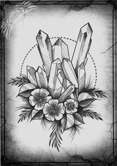 crystal tattoo sketch / idea
