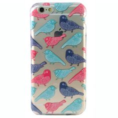 Are you of the opinion that everything truly IS better when you put a bird on it? Then you will love this case, covered with your feathered friends in teal, navy blue, and red. You will be able to bri