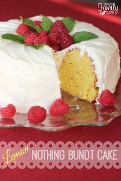 Lemon Nothing Bundt Cake - Our Version of Nothing Bundt Cakes' Lemon Cake is the third Nothing Bundt Cake we have duplicated in our recipe base.  Our homemade versions are easy to make and every bit as delicious.  They are definitely less expensive than the store bought version!  Nothing Bundt Cakes are a dense, rich, moist cake with a thick cream cheese frosting.  Find all our yummy pins at https://www.pinterest.com/favfamilyrecipz/